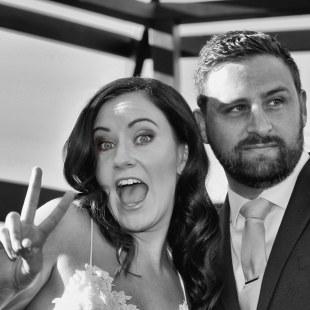Bride and Groom BW close sm